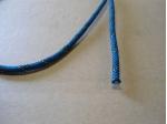 Koord 5mm blauw met kern wit